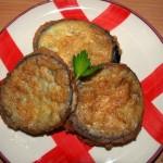 Rodajas de berenjena rellenas de jamón cocido y queso - RECETA