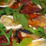 Pizza de rúcula y champiñones – RECETA
