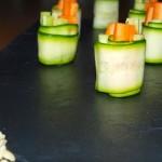 Rollitos de calabacín y verduras - RECETA