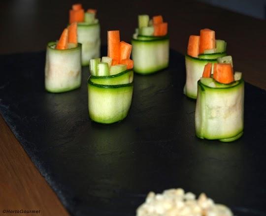 Rollitos de calabacín y verduras