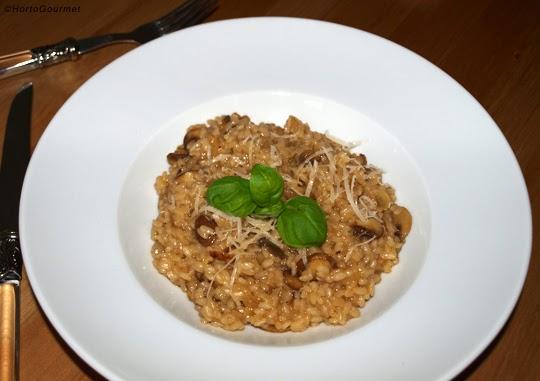 Risotto de setas Portobello y champiñones