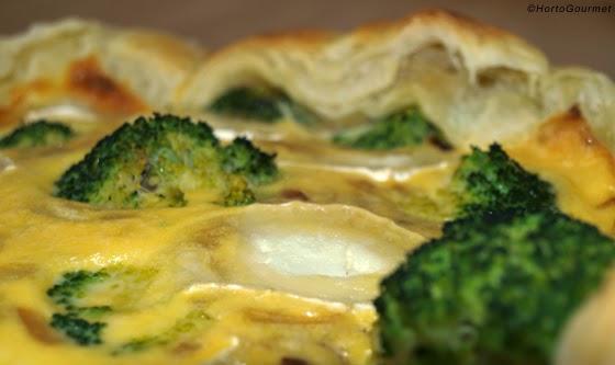 Quiche de brócoli y queso de cabra