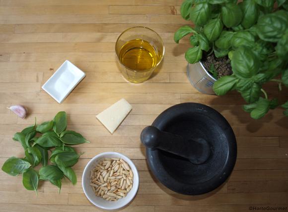 Ingredientes salsa pesto