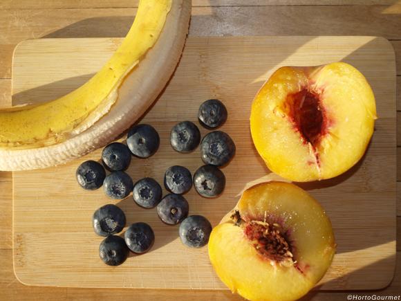 Ingredientes de batido de frutas