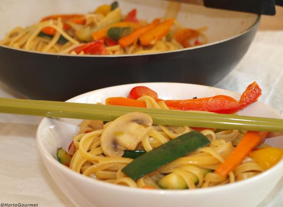 Wok de pasta y verduras – RECETA
