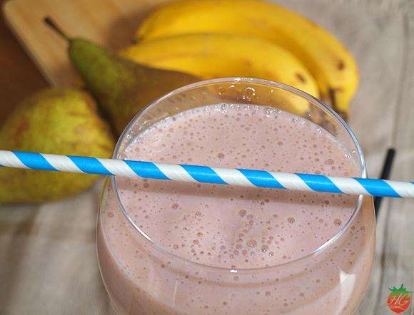 Batido de plátano, pera y frambuesas – RECETA