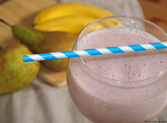Receta Batido de plátano, pera y frambuesas HortoGourmet