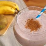Batido de plátano, pera y frambuesas - RECETA