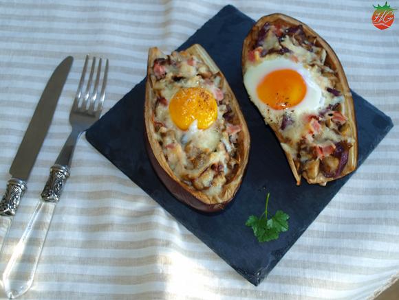 Receta Berenjena rellena con huevo