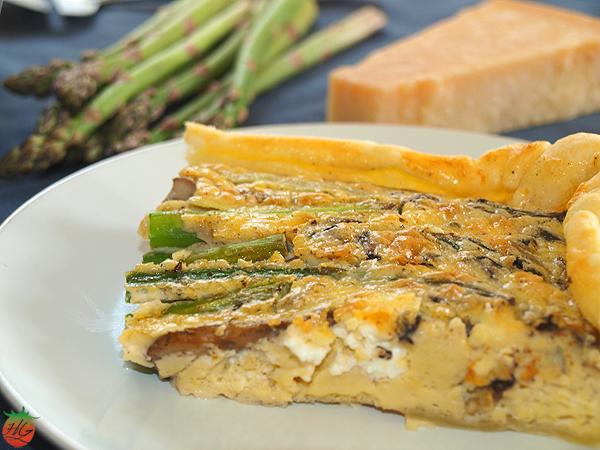 Pastel de espárragos y queso feta – RECETA