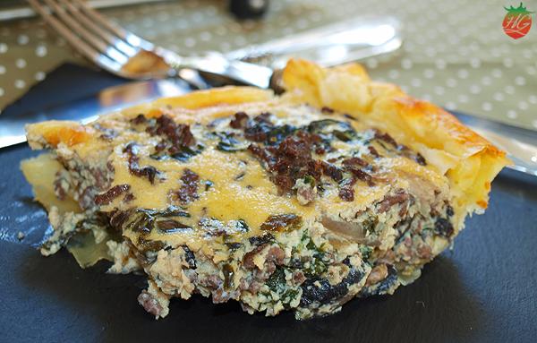 Receta Quiche carne y espinacas HortoGourmet