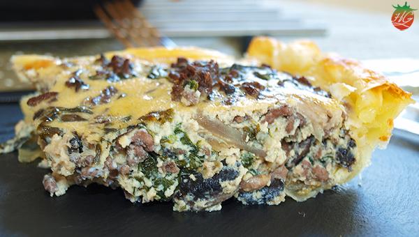 Quiche de carne y espinacas HortoGourmet