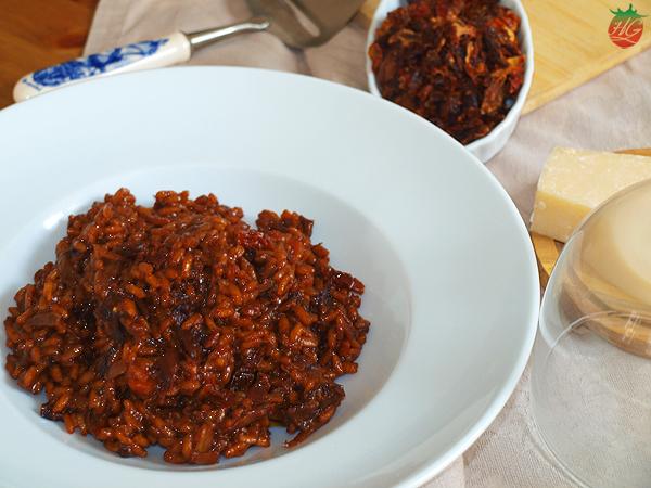 Receta Risotto tomates secos