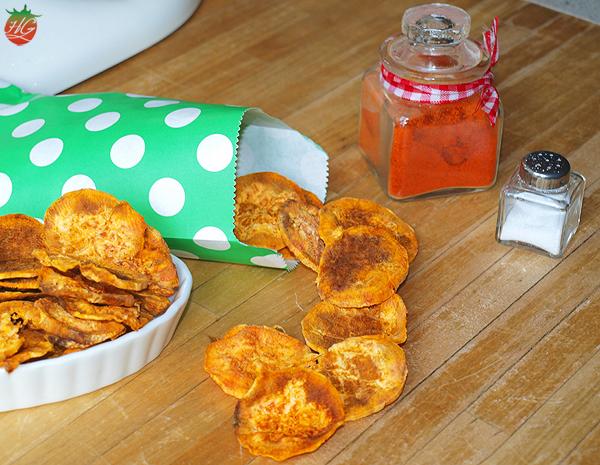 Receta Chips de boniato HortoGourmet