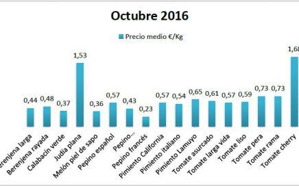 Precios en origen de hortalizas octubre 16