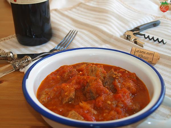 Receta Carne con tomate HortoGourmet