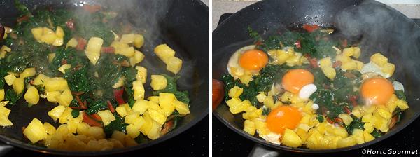Receta Revuelto patatas con acelgas HortoGourmet