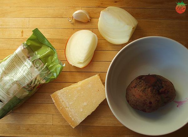 Ingredientes risotto de remolacha HortoGourmet