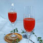 Bellini de naranja sanguina y pimiento asado - RECETA
