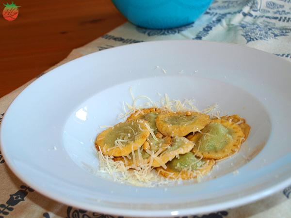 Receta Raviolis de espinacas y queso ricotta