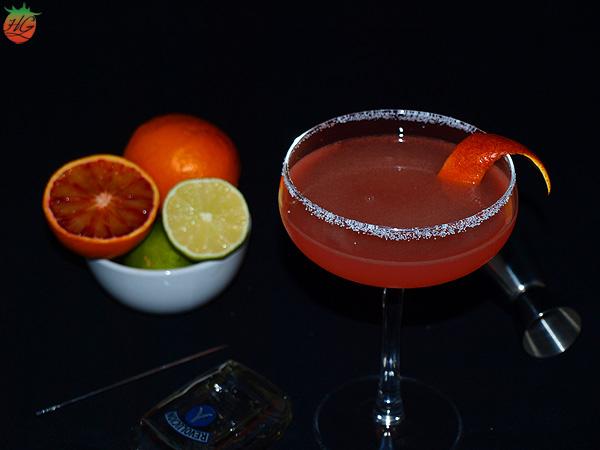 Margarita de naranja sanguina