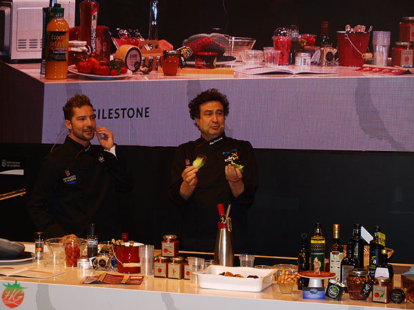 David Bisbal y Pepe Rodríguez con Sabores Almería en Salón de Gourmets