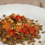 Ensalada de lentejas y tomate pera baby confitado - RECETA