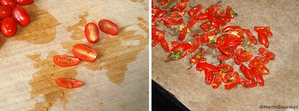 Ensalada de lentejas y tomate confitado paso 1