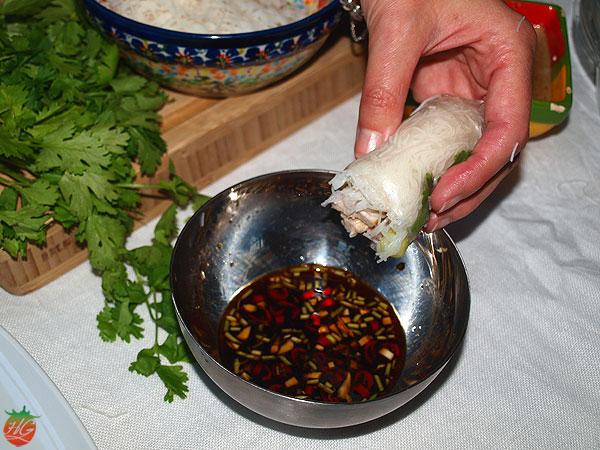 Rollitos de primavera vietnamitas HortoGourmet