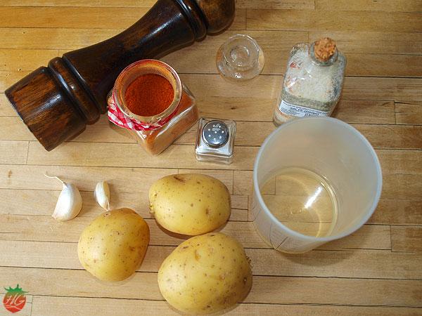 Ingredientes Patatas con pimentón