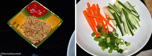 Ensalada tailandesa de fideos y ternera paso 1