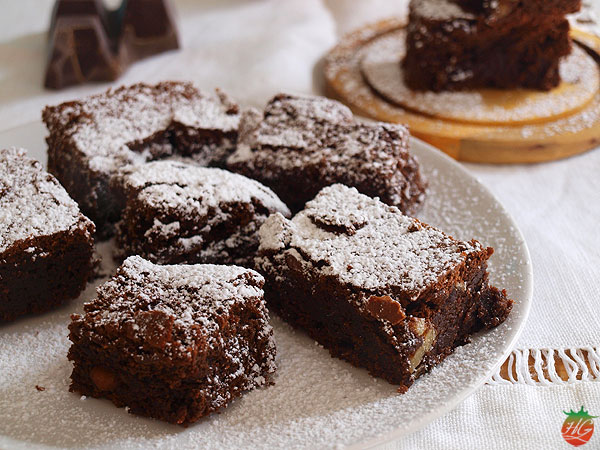 Receta Brownie de chocolate con nueces