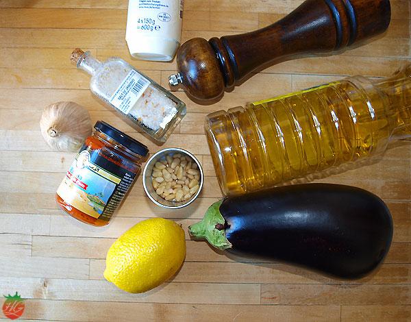 Ingredientes Berenjena asada con ajo negro