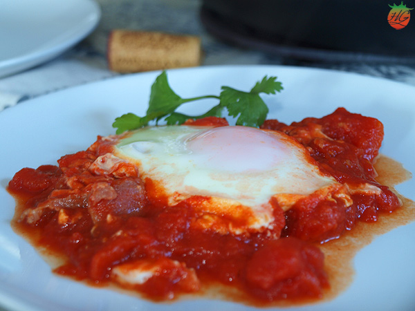 Huevos en salsa de tomate Receta HortoGourmet