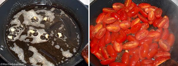 Pasta con tomate y nuez moscada paso 1