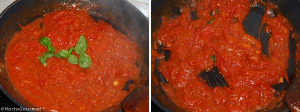 Pasta con tomate y nuez moscada paso 2