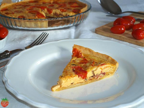 Receta Quiche de tomate y queso HortoGourmet