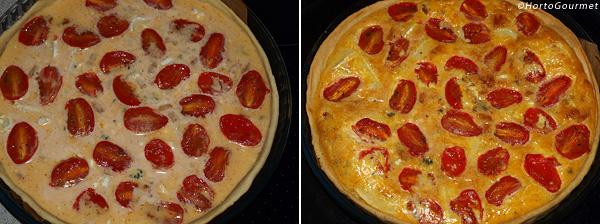 Quiche de tomate y queso paso 4