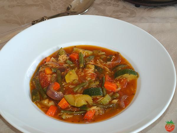 Receta Sopa minestrone HortoGourmet