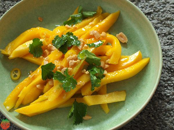 Receta Ensalada de mango y cacahuete HortoGourmet