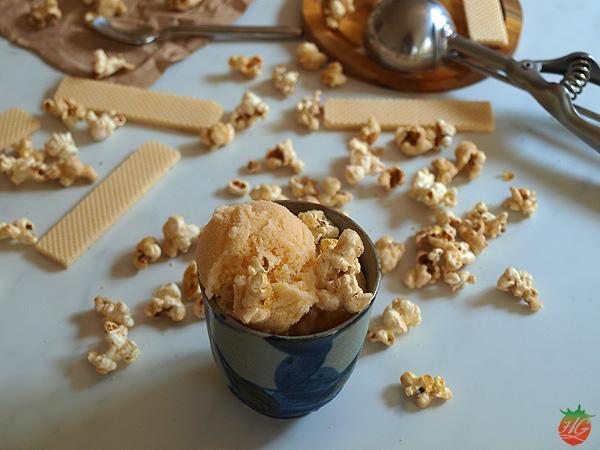 Receta Helado de palomitas de maíz HortoGourmet