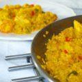 Arroz con verduras, pollo y gambas - RECETA